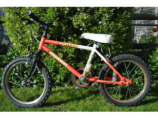 "Falcon Wild Track Bike Orange & White Boy or Girl 5-7 year old (Height 112 - 125cm) 16"" Wheels Child"