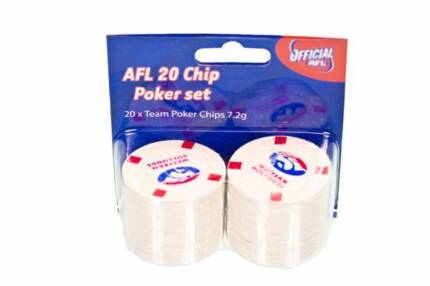 AFL Western Bulldogs 20 Chip Poker Set NEW Greenwood Joondalup Area Preview
