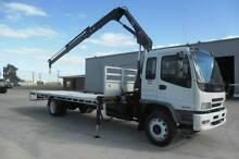 Isuzu FTR900 LONG TRAYTOP WITH CRANE Crane Truck Waterloo Corner Playford Area Preview