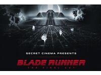 4 x Secret Cinema Bladerunner tickets for Sunday 22nd April (Phoenix/Advanced tickets)