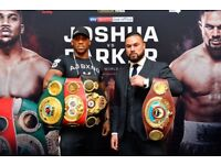Anthony Joshua floor tickets + hotel booking for two nights. Friday night and Saturday night