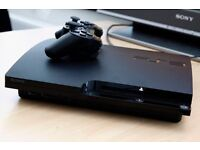 ps3 slim 320gb +3wireless controllers +4 games