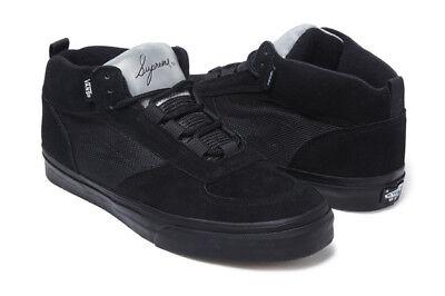 Vans Vault Supreme Mike Carroll Hi top Black Skate shoes 3M DS new Size 10.5