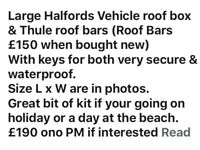 Halfords Large Vehicle/Car Roof Box & Roof Bars