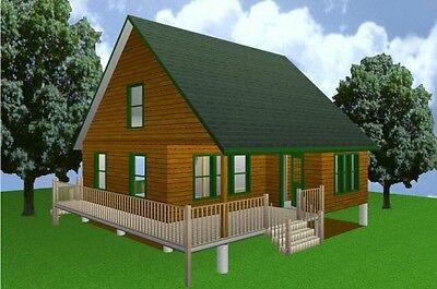 28x28 Cabin w/Loft Plans Package, Blueprints, Material List for sale  Collettsville