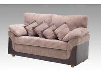 Ashby Upholstered 2 & 3 Seater Sofa Set - Brand New