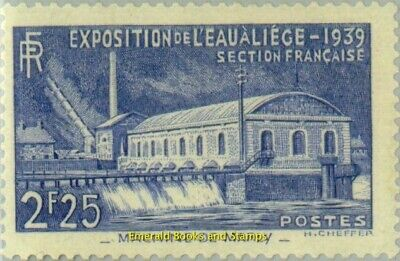 EBS France 1939 Water Expo Liege Historic Pump Station Marly YT 430 MNH** cv $58