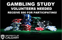 Have you ever gambled compulsively? UofC study. $90 Compensation