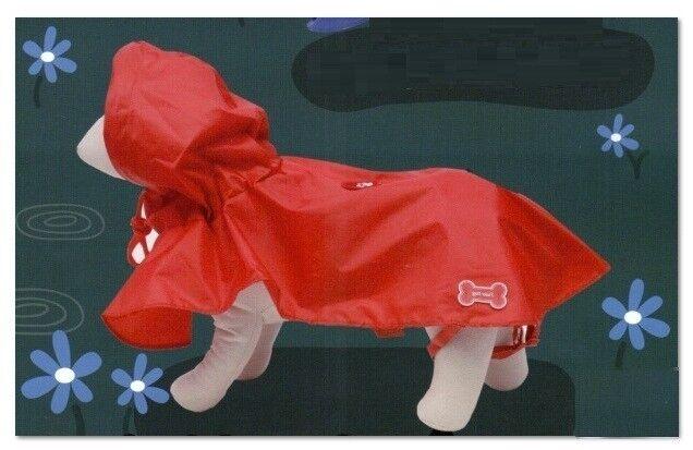 Mantella impermeabile per cani con cappuccio MIS M Rossa - Ferribiella - Nuova