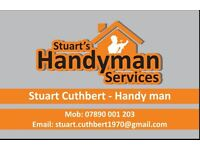 Handyman and Joiner who will complete any job undertaken to an exceptionally high standard