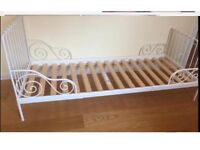 ikea beautiful extendable bed with new toddler mattress