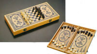 NEW  Classic Wooden Chess Set (3 in 1) chess/checkers/backgammon