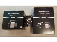 Nespresso Essenza Magimix White Sand with Milk Frother BNIB