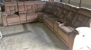 BRAND NEW BEIGE CLOTH SECTIONAL