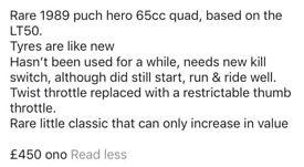 65cc quad bike