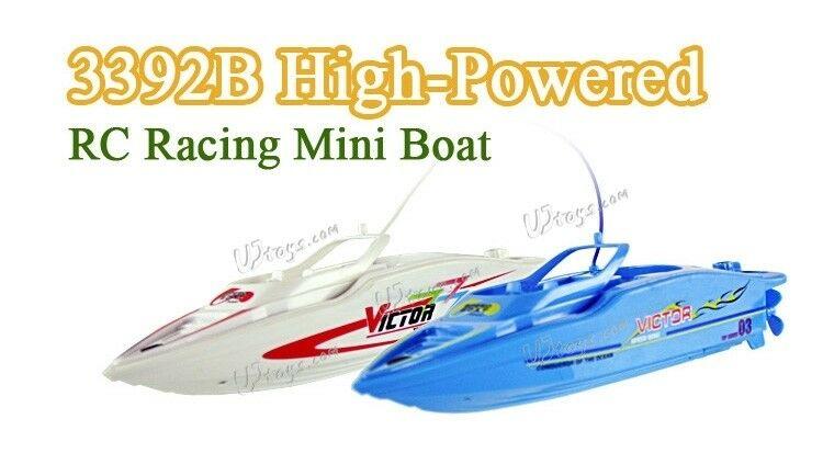 CREATE TOYS 3392B 2 PIECES  RC RACING MINI BOAT WHIT MINI POOL