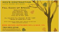 FALL CLEAN UP.. CORE AREATION..FALL FERTILIZER..LEAF REMOVAL