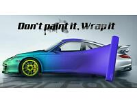 Car vehicle vinyl wrapping service from 1 panel to full car wrap
