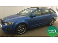 £271.97 PER MONTH BLUE 2013 SKODA OCTAVIA 2.0 CR VRS ESTATE DIESEL MANUAL