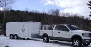 1/2 ton truck and enclosed trailer for hire