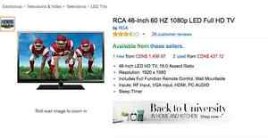 RCA 46-Inch 60 HZ 1080p LED Full HD TV RLDED4633A-D