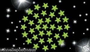 Plastik Leuchtsterne Sternenhimmel Sterne selbstklebend 34 St.Kinderzimmer Deko