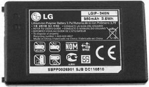 NEW OEM LG LGIP-340N Neon 2 GW370 Vu Plus GR700 Encore GT550 Xenon GR500 BATTERY