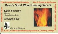 Gas, Wood  Stoves And Fireplaces. Chimney Sweep  Sales, Service,