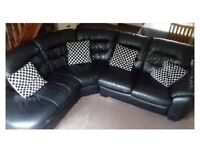 Leather DFS corner sofa
