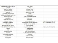 7'' Vinyls - See list