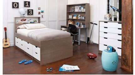 Kids Bedroom Harvey Norman single bed on bed base bought in 2016 from harvey norman | beds