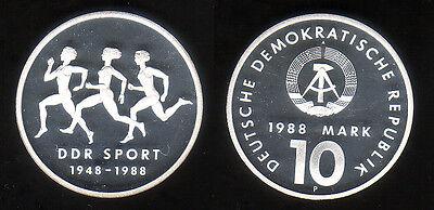 """10 M DDR 1988 """"40 Jahre DDR Sport Probe"""", sehr selten !"""