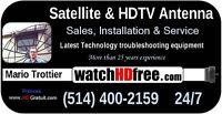 DIGITAL TV ANTENNAS MONTREAL 514 400-2159 Service 24/7
