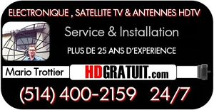 ANTENNE TV MONTREAL 514 400-2159 SERVICE 24/7