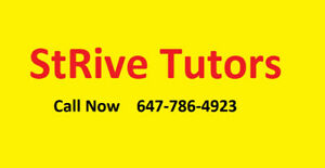 StRive Tutors Whitby (Serving the Durham Region)