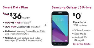 Rogers  LTE network 4GB cell phone plan! $36 only per month!
