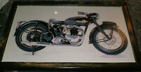 3 vintage Triumph motorcycle pictures - mounted,ready to display