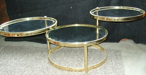 Decorative Articulate matching coffee and side tables Strathcona County Edmonton Area image 2