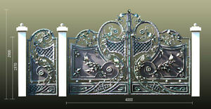 Uniquely Designed Quality Forged Gates