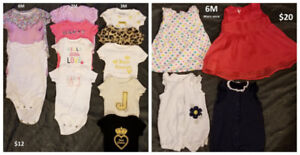 Baby girl clothes lot NB-6M