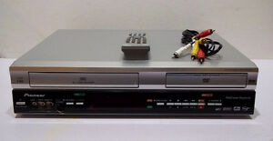 Pioneer DVD/VCR 2-Way Recording w/Remote & Cable, Like New!