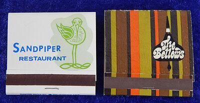 Matchbooks 2 The Bellows San Jose Sandpiper Restaurant Cupertino Ca Unstruck Vtg