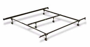 Ajustable Queensize Iron Bed Frame with Centre Support
