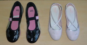 Two Beautiful Pairs Girl Shoes, size  6/6.5