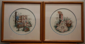 (2) Lovely Framed Cross Stitch Wall Art - 2/$60