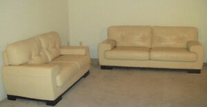 "95% NEW HUGE ""BUFFALO"" LEATHER SOFA SET, ORIGINAL WAS $8500"