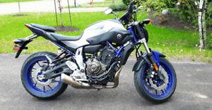 2016 Yamaha fz07 with extended warranty