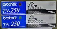 Brother TN-250 Genuine Toner Cartridges (2 pack)
