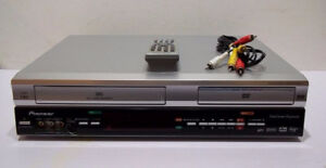 Pioneer DVD/VCR Recorder/Player Combo w/Remote, Mint Condition!