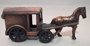 Miniature Horse & Carriage Copper Diecast Pencil Sharpner